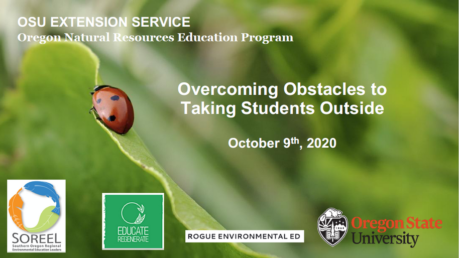 Slides for Overcoming Obstacles to Taking Students Outside