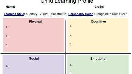 Child Learning Profile