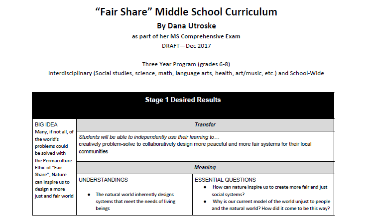 Fair Share Unit Plan Draft