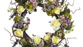 24 inch Hydrangea Rose Wreath