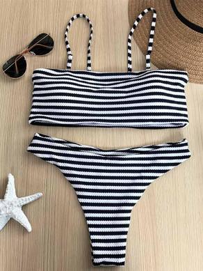 Black Striped Bikini