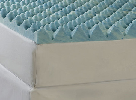 "Comforpedic from Beautyrest® Big Wave 4"" Gel Memory Foam Mattress Topper"