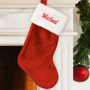Western Christmas Stockings Personalized.Personalized Plush Christmas Stocking
