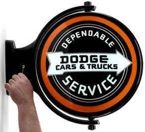 Dodge Service Revolving Wall Light