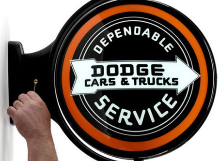 Dodge Service Revolving Wall Light