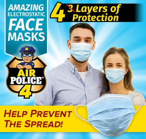 Air Police 4 Face Mask - USA Based Company