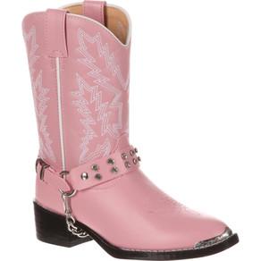 12 Child, 1 Youth Kid's Durango Pink Rhinestone Western Boots BT568