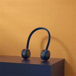 Bcase USB Rechargeable 1800MAh Portable Hanging Neck Cooling Fan Headphone Design Mini Cooler