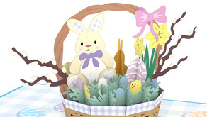 Easter Basket 3D card