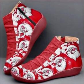 Christmas Women Boots Plus Size Flat Heel