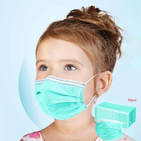 50Pcs Kids Disposable Face Masks Respirator 3-layer Filter Anti-Dust Protective Mouth Mask