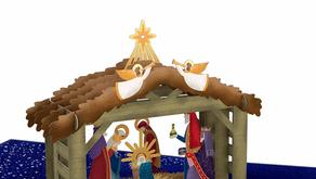 3D Nativity Christmas Card