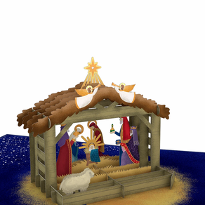 3D Nativity Christmas Card