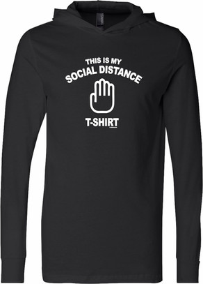 This Is My Social Distance Shirt Lightweight Hoodie T-Shirt