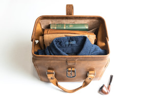 Big Mouth Leather Duffel Bag