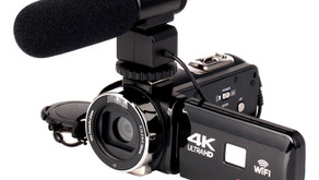 4K WiFi Ultra HD 1080P 16X ZOOM Digital Video Camera DV Camcorder with Lens and Microphone - Camera