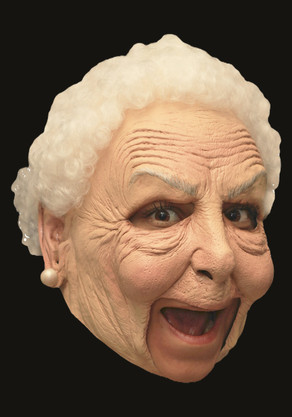 Adults Deluxe Old Woman Mask