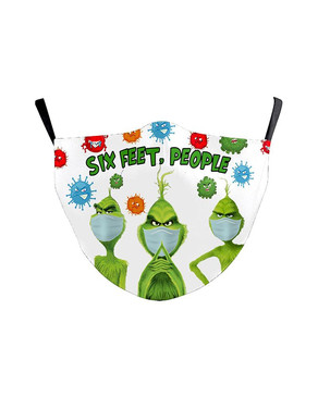Christmas Cartoon Print Filter Face Mask For Adult