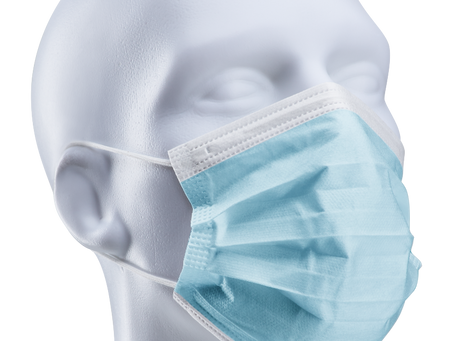 3-Ply Face Mask with Elastic Ear Loop - 50 pcs