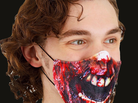Adult's Zombie Sublimated Face Mask