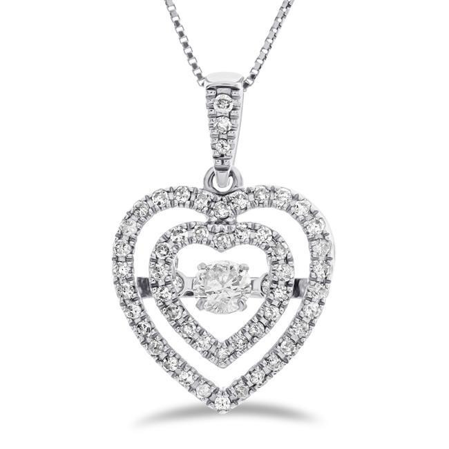 Discount Diamond Heart Pendants