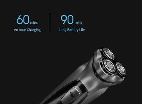Enchen Black Stone 3D Electric Shaver Smart Control Blocking Protection Razor for Men Gift