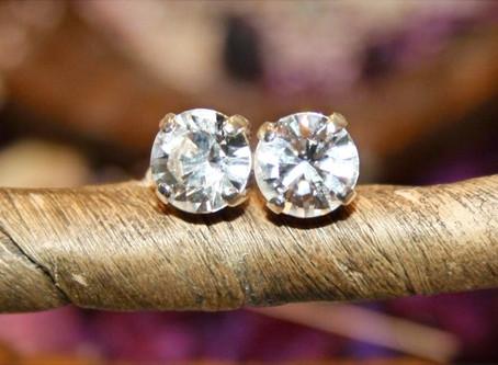 DIY Diamond Ear Studs