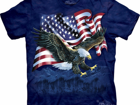 Bald Eagle Shirt Tie Dye Talon American Flag T-shirt Adult Tee