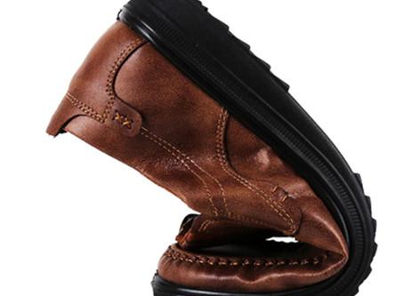 Menico Men Retro Color Leather Large Size Soft Sole Casual Driving Shoes
