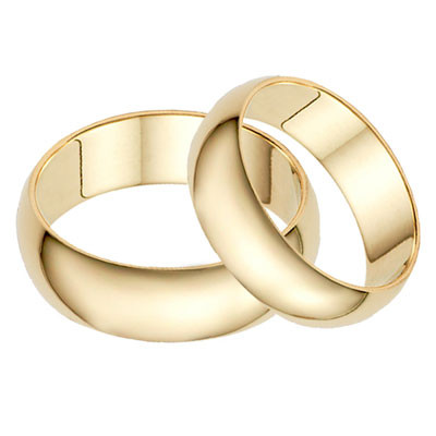 Plain Gold Wedding Bands