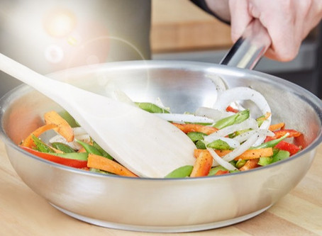 """Induction Ready Fry Pan 9-1/2"""" 18/8 Stainless Steel"""