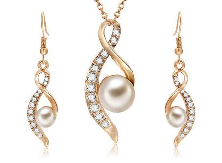 Sweet Pearl Diamante Jewelry Sets