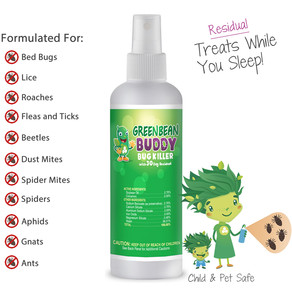 Bed Bug Extermination Spray, Roach, Flea, Tick, Lice, Beetle and Mite Killer w/ Residual Protection