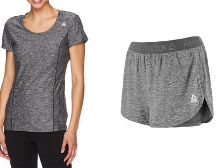 Reebok Women's T-Shirt and Running Shorts