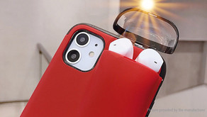 Multifunctional 2-in-1 TPU Protective Case Cover for iPhone 11 & Apple Airpods 1/2
