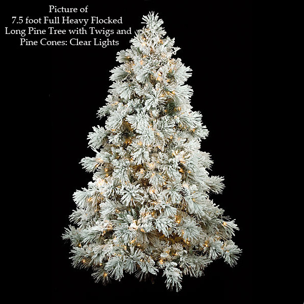 Discount Flocked Christmas Trees