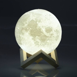 3D Print Moon Lamp USB LED Night Light