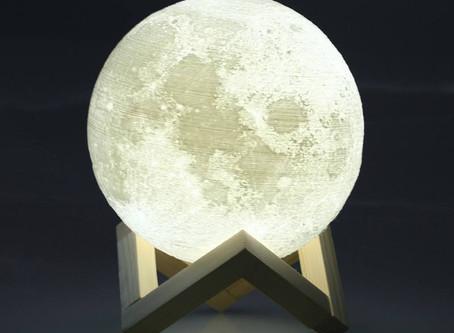 3D Print Moon Lamp USB LED Night Light