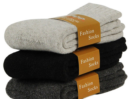 Thick Wool Warm Deodorant Sweat-Absorbent Anti-Friction Middle Tube Socks for Men