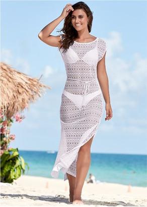 Netted Crochet Cover-Up Dress