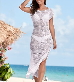 Netted Crochet Cover-Up Dress