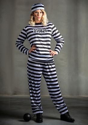 Women's Prisoner Plus Size Costume