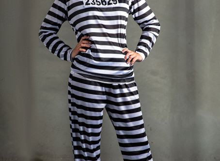 Women's Prisoner Plus Size Costume
