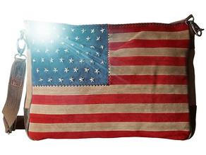 Scully Suede American Flag Handbag