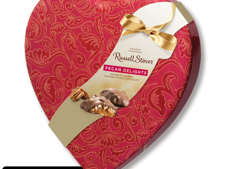 Pecan Delight Satin Heart, 8 oz.