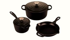 5 Piece Signature Enamel Cast Iron Cookware Set