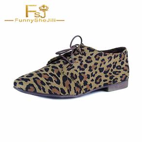 Women's Oxfords Leopard Print Flats Comfortable Shoes