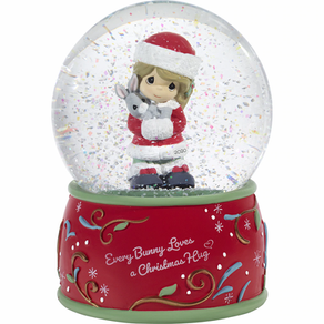 Every Bunny Loves A Christmas Hug 2020 Girl Christmas Snow Globe