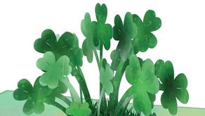 Saint Patrick's Day Lucky Clover 3D Card