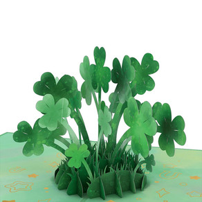 Saint Patrick's Day Lucky Clover 3D Card